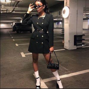 Zara NWT Belted Frock Coat 🍒🍒🍒